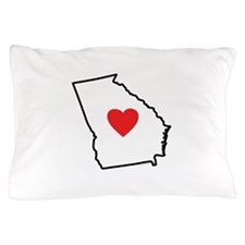 I Love Georgia Pillow Case