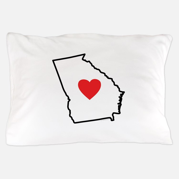 I Love Georgia Pillow Case