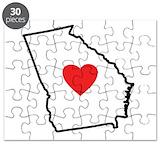 Georgia map Puzzles