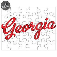 Georgia Script Red VINTAGE Puzzle