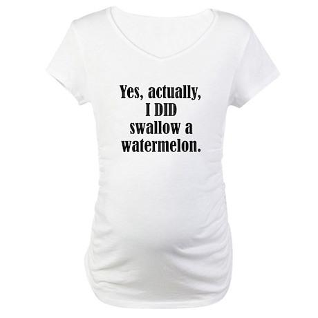 Watermelon tummy Maternity T-Shirt