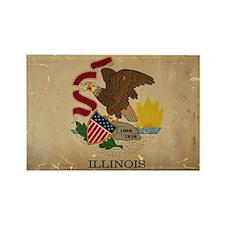 Illinois State Flag VINTAGE Magnets