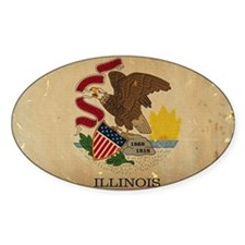 Illinois State Flag VINTAGE Decal