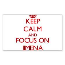 Keep Calm and focus on Jimena Decal