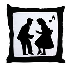 Couple Dancing Throw Pillow