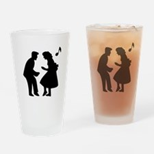 Couple Dancing Drinking Glass