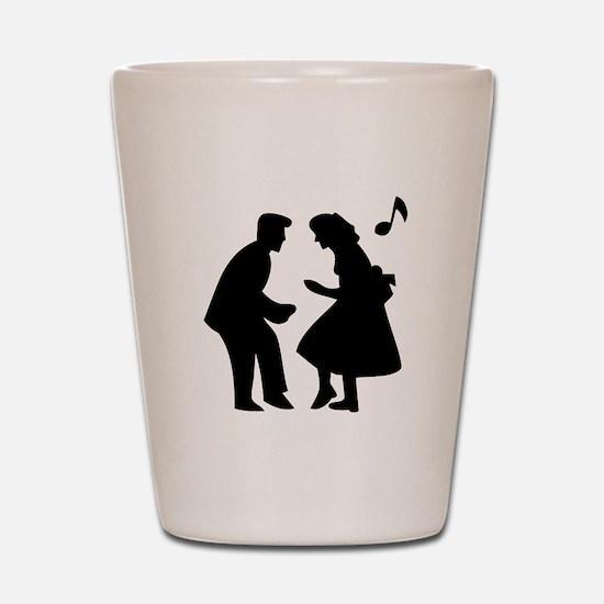 Couple Dancing Shot Glass