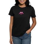 Due In August - Pink Women's Dark T-Shirt