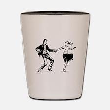 Vintage Couple Dancing Shot Glass