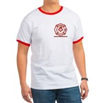 Masonic Fire fighter thin red line Ringer T