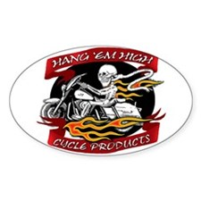 HANG EM HIGH Oval Decal