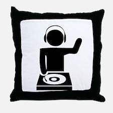 Music DJ Throw Pillow