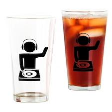 Music DJ Drinking Glass