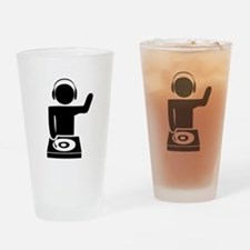 Music DJ Drinking Glass