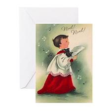 Vintage Choir Boy Christmas (pk Of Greeting Cards