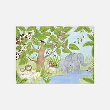 Jungle Animal 5'x7'Area Rug