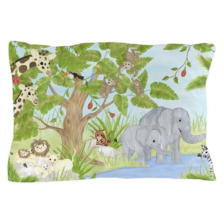 Jungle Animal Pillow : Jungle Animal Pillow Case by TotsOFun