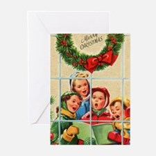 Children Caroling Christmas (pk Of Greeting Cards