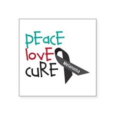 Peace Love Cure Sticker