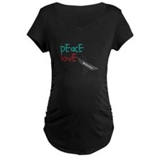 Peace Love Cure Maternity T-Shirt