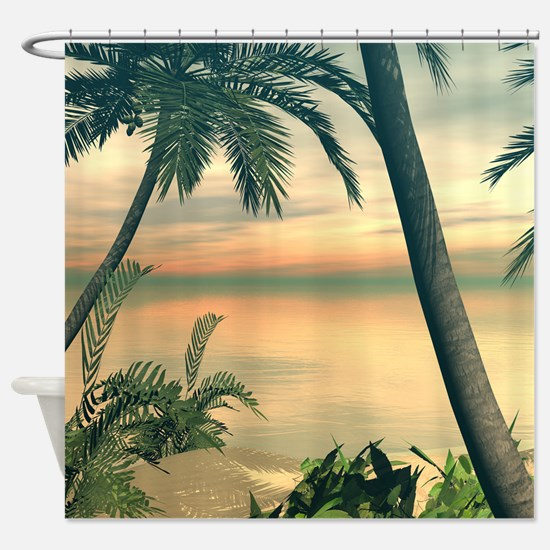View of the sea Shower Curtain