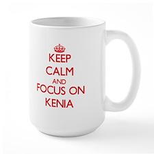 Keep Calm and focus on Kenia Mugs