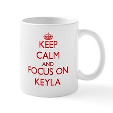 Keep Calm and focus on Keyla Mugs