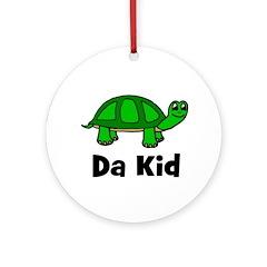 """Turtle - """"Da Kid"""" Ornament (Round)"""