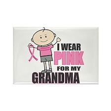 I Wear Pink Grandson Magnets