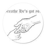 Breathe Round Car Magnets
