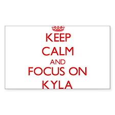 Keep Calm and focus on Kyla Decal