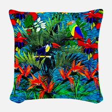 Rain Forest Fantasy Woven Throw Pillow