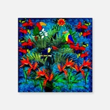 "Rain Forest Fantasy Square Sticker 3"" x 3"""
