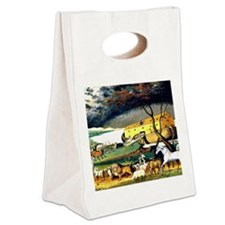 Noah's Ark Canvas Lunch Tote