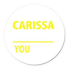 Cute Carissa Round Car Magnet