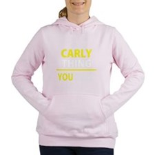 Cute Carlie Women's Hooded Sweatshirt