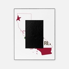 CALIFORNIA FLAG and STATE Picture Frame