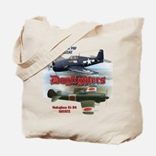 Dogfighters: F6F vs Ki-84 Tote Bag