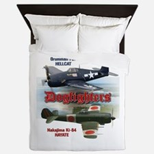 Dogfighters: F6F vs Ki-84 Queen Duvet