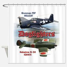 Dogfighters: F6F vs Ki-84 Shower Curtain