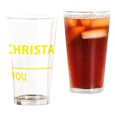 Cute Christa Drinking Glass