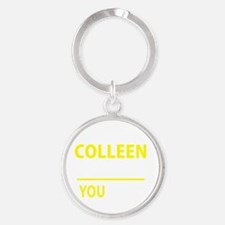 Cute Colleen Round Keychain