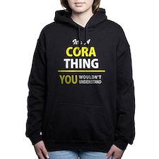 Cute Cora Women's Hooded Sweatshirt