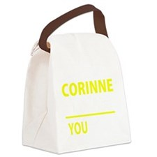 Funny Corinne Canvas Lunch Bag