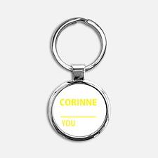 Cute Corinne Round Keychain
