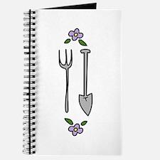 Gardening Tools Spade Rake Journal
