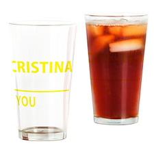 Cute Cristina Drinking Glass