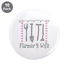 """Farmer's Wife 3.5"""" Button (10 pack)"""
