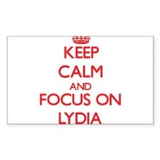 Keep Calm and focus on Lydia Decal