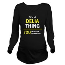 Funny Delia Long Sleeve Maternity T-Shirt